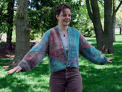 "A front view of the ""BexShelLaura-Jacket Pattern"". Click here to see more of this and other patterns."